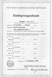 Endlich am Ziel – Einbuergerung in die DDR